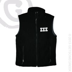 SIGMA SIGMA SIGMA CUSTOM GROUP ORDER ON SUPER CUTE CHEVRON EMBROIDERED LETTER FLEECE VESTS!!