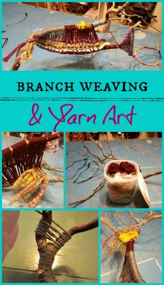 Take a fallen branch & leftover yarn & turn it into art! Weaving Yarn, Unusual Things, Halloween Projects, Fun, How To Make, Crafts, Nature, Blog, Manualidades