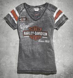 Harley-Davidson® Women's Genuine Oil Can Burnout Tee 99196-14VW