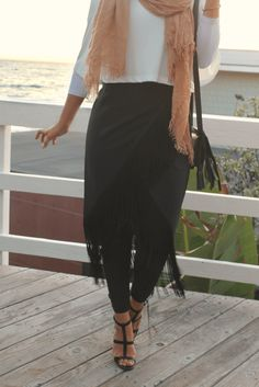 Wrap around skirt with fringe - check out: Esma <3