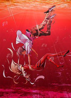 Shinji X Asuka Anime: Evangelion Neon Genesis Evangelion, Evangelion Shinji, Good Anime Series, Mecha Anime, Ghost In The Shell, Illustrations, Anime Comics, Anime Characters, Anime Art