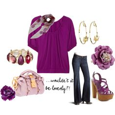 Pretty In Purple Stuff, created by stigro on Polyvore