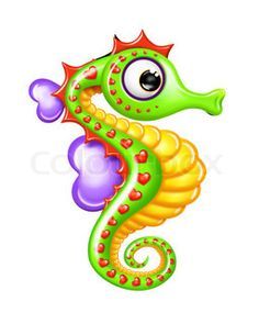 Whimsical Cartoon Boy Seahorse | Stock Photo | Colourbox on Colourbox