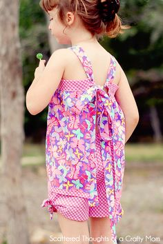Scattered Thoughts of a Crafty Mom: Fitted Apron Top Tutorial w/ Free Pattern in sizes 2 to 6