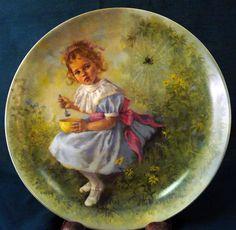 """Collector's Plate """"Little Miss Muffet""""."""