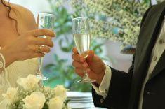wedding toast stock photo