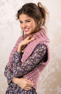 If you're not a fan of the dainty look of most shrugs, or you're looking for something a little more durable and warming than your standard bolero, look no further than the Cozy Knit Shrug Pattern. Shrug Knitting Pattern, Knit Shrug, Knitting Patterns Free, Knit Patterns, Free Knitting, Free Pattern, Bolero Pattern, Sweater Patterns, Shrugs And Boleros