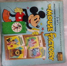 The MOUSE FACTORY Disneyland LP Record 3808 by KatsVintageTreasures on Etsy