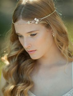 Bridal Headpiece Boho Bridal Headband  Bridal by Ayajewellery