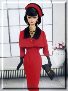 Winbrie-OOAK-Winter-Holiday-Fashion-for-Silkstone-Vintage-Barbie-Royalty-Joby $177.50 10/7/2015