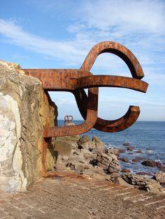 Peine del viento - Chillida  Donosti   Spain