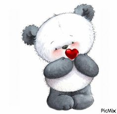 panda bear by Martha Jean Sandy Crocker Illustration Mignonne, Cute Illustration, Panda Love, Cute Panda, Panda Panda, Panda Bears, Cute Images, Cute Pictures, Animal Drawings