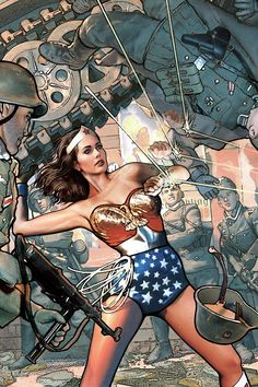 Lynda Carter, Wonder Woman by Paul Guinan ~ nice flashback.