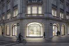 Apple trademarks its interior store design .The Apple Store, Amsterdam. Courtesy of Apple Architecture Classique, Classic Architecture, Building Architecture, Apple Store, Steel Buildings, Design Furniture, Store Fronts, Modern Classic, Classic House