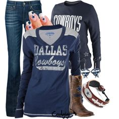Dallas Cowboys.. not all worn together but you get the idea