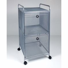 Design Ideas Digit File Cart   Black Free Shipping Available At The  Organizing Store