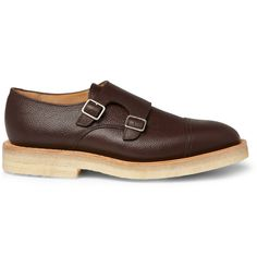 MARK MCNAIRY - CREPE SOLE DOUBLE MONK-STRAP SHOES