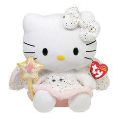 """If your child likes Hello Kitty, here's your chance to give her the best gift and show her just what you think of her. If she's exceptionally good, our genuine Ty Hello Kitty 8"""" Gold Angel Beanie baby is the perfect way to say you're our little angel.  #hellokitty #retrostyler #hellokittystuff #hellokittymerchandise #hellokittycollectables"""