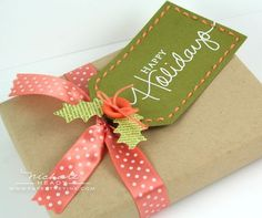 Christmas tag by Nichole Heady for Papertrey Ink (September 2011).