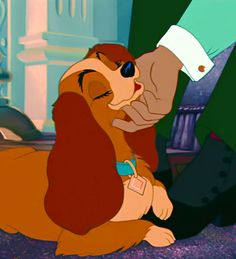 Day 6:Favorite animal!  Lady from Lady and the Tramp. She is such a pretty dog. She reminds me of a princess.#cockerspaniel#proper#t