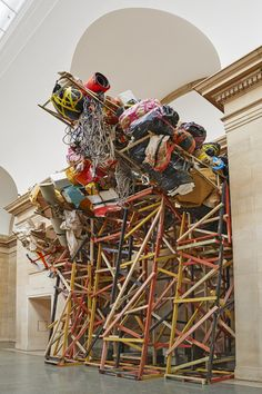 Phyllida Barlow, Dock at Tate Britain — Hauser & Wirth Abstract Sculpture, Sculpture Art, Abstract Art, Op Art, To Infinity And Beyond, Installation Art, Art Installations, Textiles, Public Art