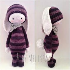 RITA the rabbit made by Melissa G. / crochet pattern by lalylala