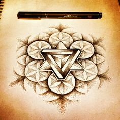 #sacred geometry #dots #dotwork #pattern #impossible #triangle