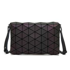 Luminous Diamond Lattice Ling's Geometry Baobao Bags 2017 Fashion Folded Triangles Satchel Sac Envelope Shoulder & Crossbody Bag
