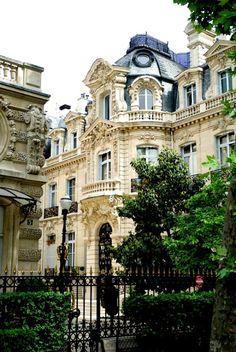 | ♕ |  Baroque maison - Parc Monceau, Paris  | by © Paul Ashton | via ysvoice
