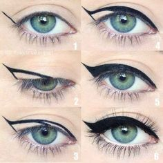 an easy way to apply eyeliner