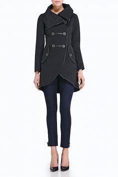 #Mackage Sharone trench coat in Black