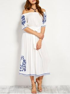 GET $50 NOW | Join RoseGal: Get YOUR $50 NOW!http://www.rosegal.com/casual-dresses/off-shoulder-belted-embroidered-dress-846329.html?seid=8229767rg846329