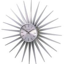 Amazon.com: George Nelson Sunburst Clock, Silver: Home & Kitchen