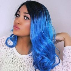 #RoseGal - #Rosewholesale Medium Center Parting Ombre Curly Synthetic Wig - AdoreWe.com