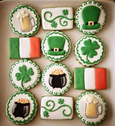 An Irish platter | Cookie Connection  ||  St. Patrick's Day Cookies ((photo only; no recipe))
