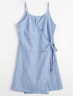 SHARE & Get it FREE | Cami Striped Wrap Dress - Blue SFor Fashion Lovers only:80,000+ Items • New Arrivals Daily Join Zaful: Get YOUR $50 NOW!