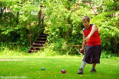 Bowling in curte