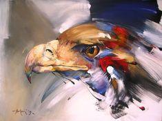 Braca Djurkovic - Painter - Official Website - Oil on Canvas Wildlife Paintings, Wildlife Art, Animal Paintings, Animal Drawings, Bull Painting, Horse Oil Painting, Acrylic Painting Canvas, Bird Artwork, Abstract Painters