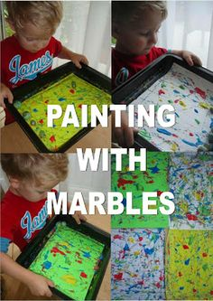 Mothers Madness: Painting with marbles