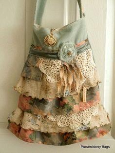 Gypsy Bag borsa Shabby Chic grande morbido di PursenicketyBags, $85,00