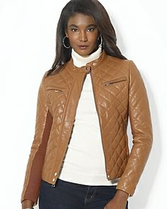 Lauren quilted leather jacket, sale