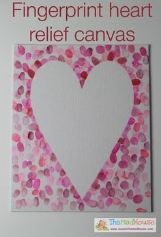 family fingerprint relief heart art canvas or valentine's day card for dad Activ. - family fingerprint relief heart art canvas or valentine's day card for dad Activite St Valentin, - Kinder Valentines, Valentine Crafts For Kids, Valentines Day Activities, Valentines Day Party, Holiday Crafts, Mothers Day Cards Craft, Valentine Gift For Dad, Kids Crafts, Toddler Crafts
