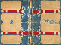 Antique Dutch book on batik with batiked cover.  Wolfsonian-FIU Rare Books & Special Collections Library