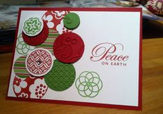 Circle Circus Christmas Card by Stampin Arts - Cards and Paper Crafts at Splitcoaststampers
