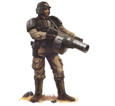 Cadian Weapon Spec W/ Grenade-Launcher.