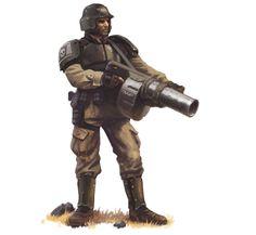 Cadian Weapon Spec W/ Grenade-Launcher.