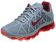 Nike Air Max 2011 Mens 684530-003 Grey Red Running Athletic Shoes Size 8.5