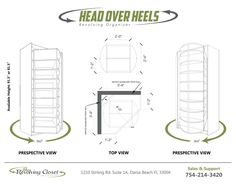 """""""Head Over Heels"""" Shoe & Accessory Storage Unit - Head Over Heels is the only revolving shoe and accessory storage unit of its kind. Head Over Heels makes it easy and convenient to store all your favorite shoes and accessories, allowing you to see and select them at a glance!"""