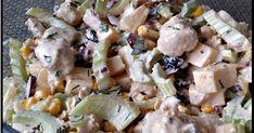 SAŁATKA z kurczakiem, SELEREM naciowym i Żurawiną, seler naciowy, sałatka z kurczakiem, sałatka, pyszna sałatka, żurawina, sałatka z ananasem, ananas, kurczak Potato Salad, Food And Drink, Potatoes, Ethnic Recipes, Impreza, Diet, Potato