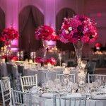 28-Four Seasons Dallas  Wedding, Magenta & Silver Wedding